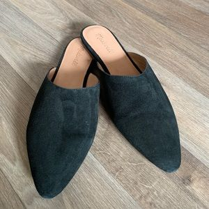 NWT Madewell the remi mule in suede true black